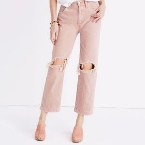 Madewell x Where I was From Pink Jeans